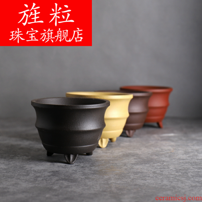 Continuous grain ┣ cloud waist line small exposure to round basin ╂ specials purple flower diameter of about 10 cm