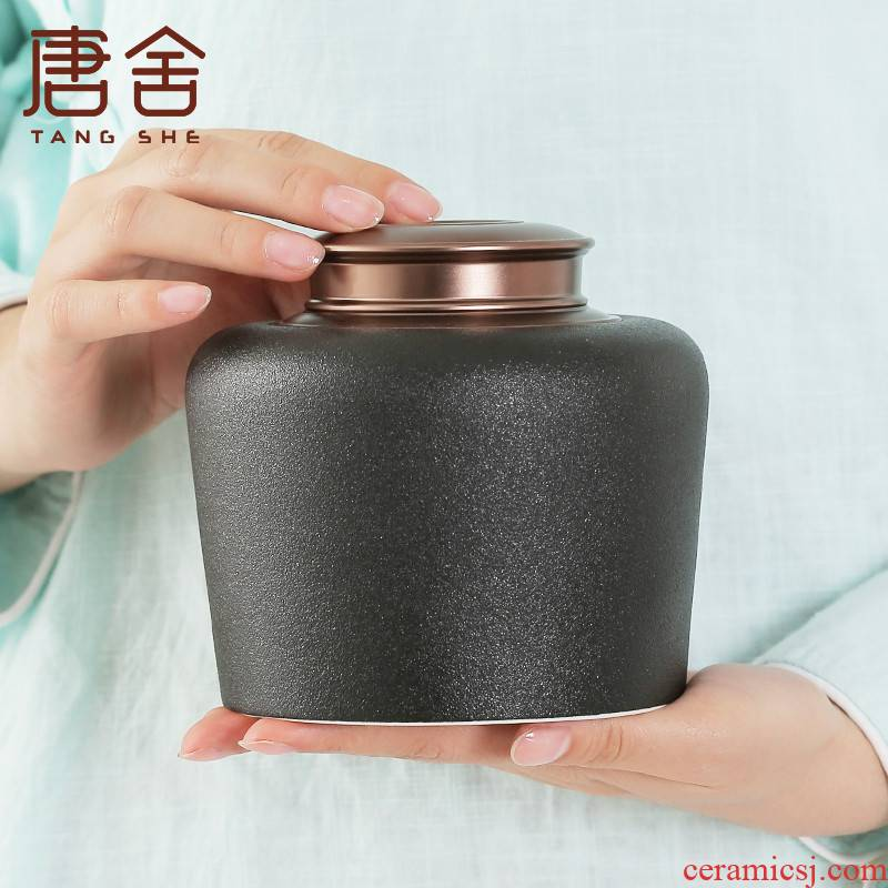 Don difference up half jins to ceramic decals sealed jar scattered camellias pu 'er tea caddy fixings storage tank is moistureproof and tea