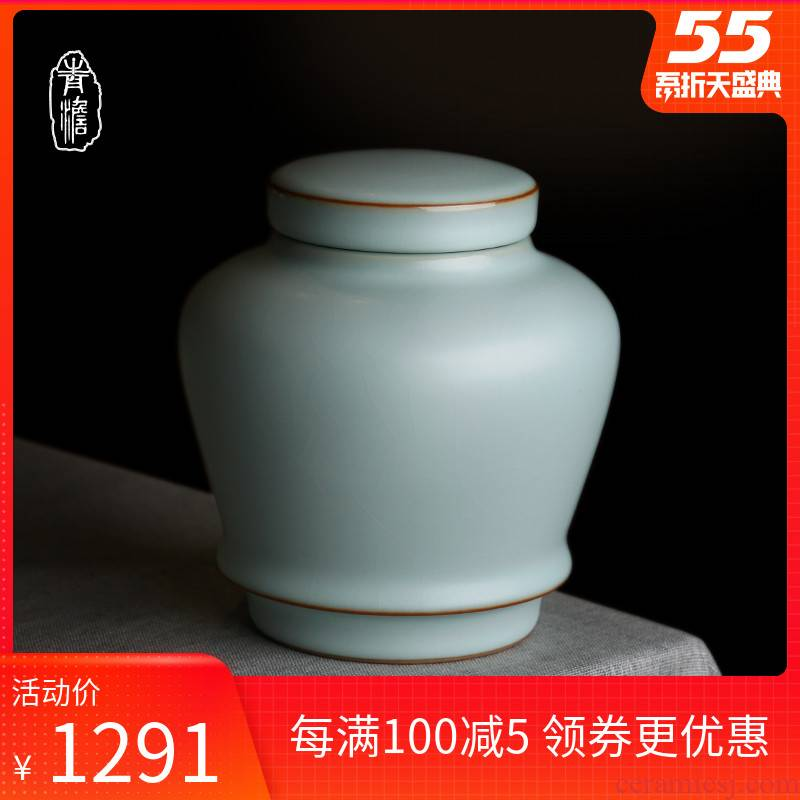 Your up with jingdezhen ceramic seal by hand to restore ancient ways moisture stored tea caddy fixings seal pot household gift boxes