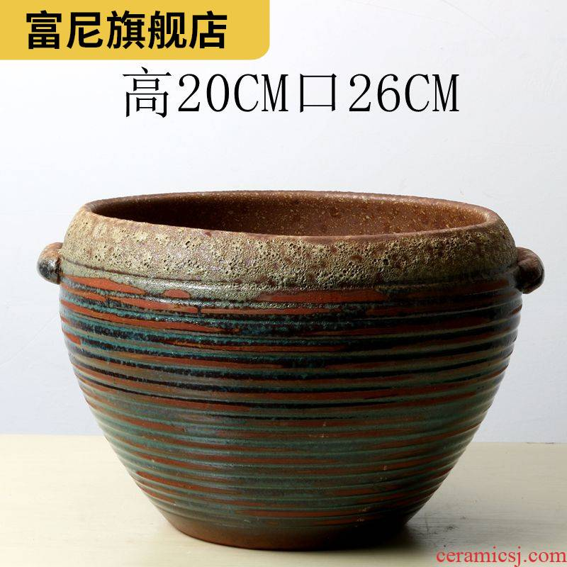 Rich, violet arenaceous biscuit firing large diameter is coarse special offers more than other meat meat meat ceramic clearance large breathable flowerpot