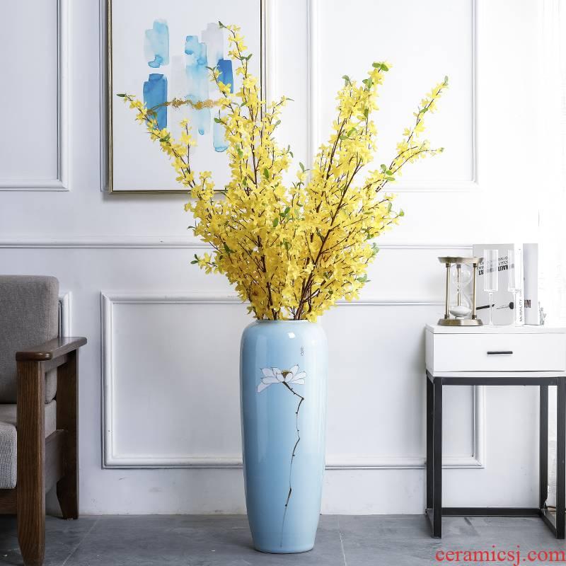 Modern new Chinese style ceramic vase of large sitting room household soft adornment art flower arranging TV ark, furnishing articles