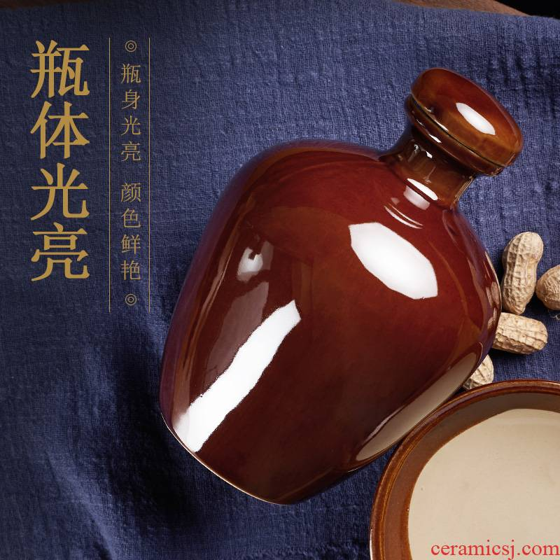 Smooth small ceramic 1 kg pack a liquor bottle sealed jars pattern of 500 ml jar without words
