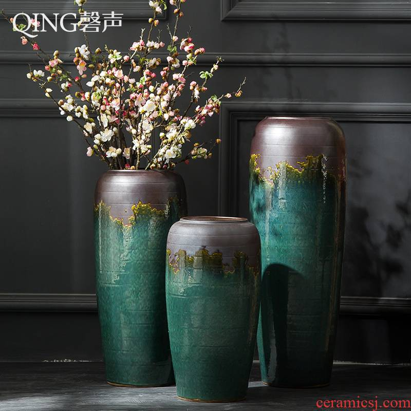 Jingdezhen ceramic vase furnishing articles of large sitting room porch home decor I and contracted flower arranging dried flower porcelain