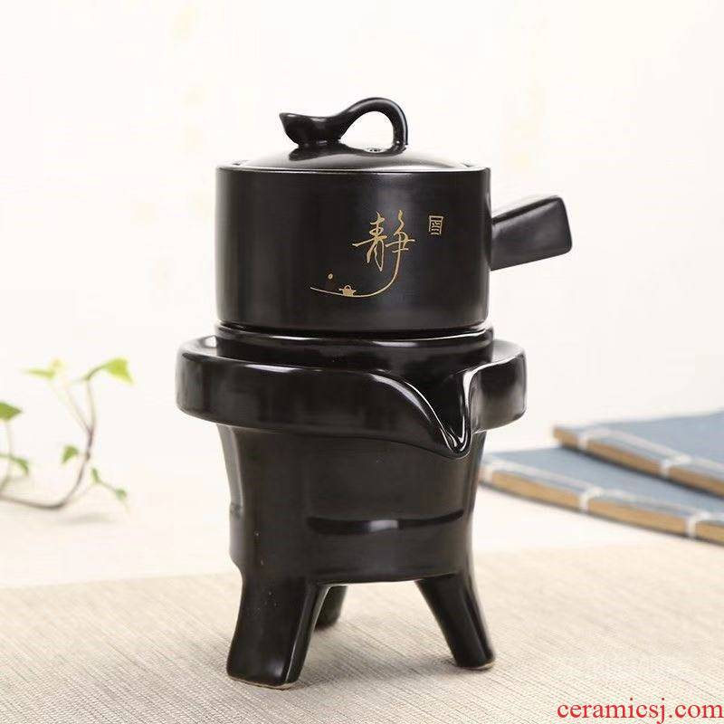 Fit individual lazy tea set a single rotating water kung fu automatically blunt tea of restoring ancient ways to revolve the teapot