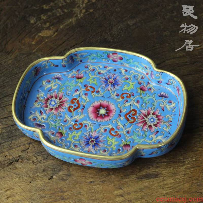 Offered home - cooked ju long up controller colored enamel haitang washed jingdezhen famille rose porcelain tea furnishing articles by hand
