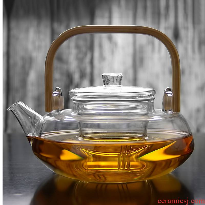 Royal more pure glass teapot high temperature resistant filter bamboo girder pot of large capacity electric TaoLu cooking pot