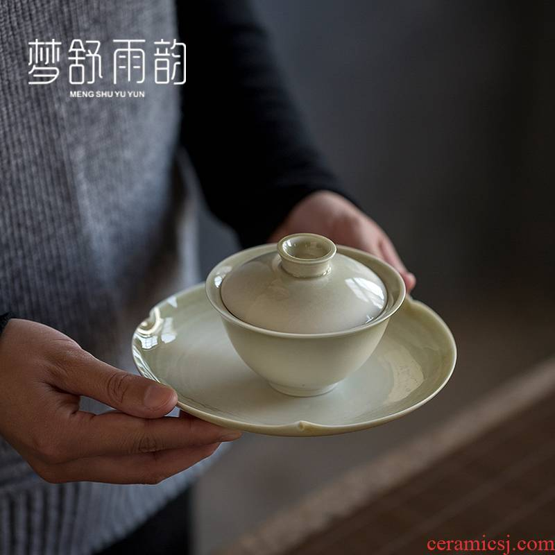 Dream ShuYu rhyme Japanese kung fu tea tea 3 tureen only single ceramic small finger bowl of restoring ancient ways the teapot