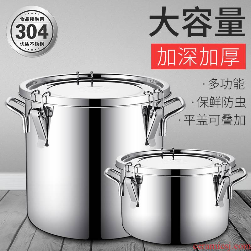 Ricer box of 304 stainless steel sealed bucket can fold transport VAT caddy fixings pharmaceutical factory barrels of milk barrel barrel oil as cans