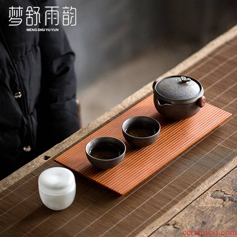 Dream travel ShuYu rhyme kung fu tea cup to crack a pot of two cups of portable teapot teacup ceramic office