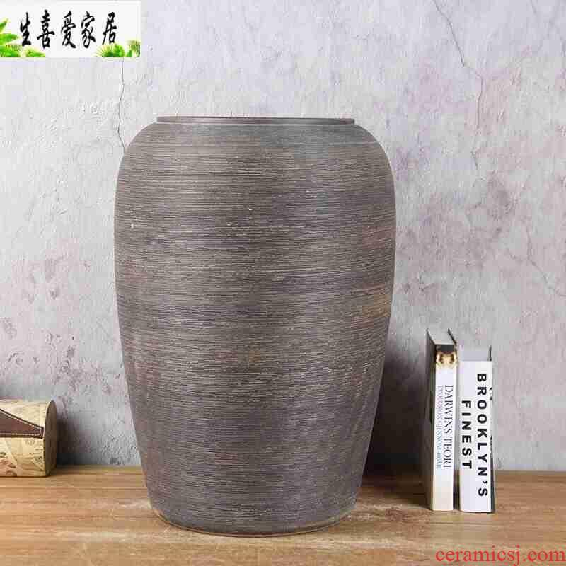 Simple Chinese porcelain vase furnishing articles flower implement sitting room flowerpot ceramics decoration hydroponic flower pot 8820 - restoring ancient ways