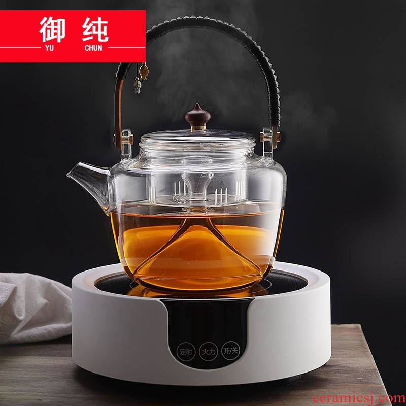 Royal boiling tea is pure glass teapot steam steaming tea sets electric TaoLu automatic Japanese household cooking furnace