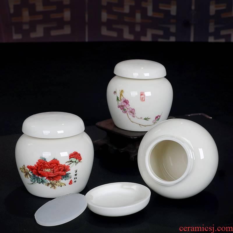 Paste pot ceramic seal plaster medicine can honey pot powder ceramic tea pot small porcelain jar