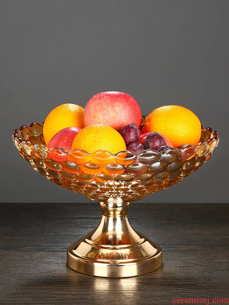 Delicate and practical plate put household items snack plate of European furnishing articles set up creative fruit tray table decoration