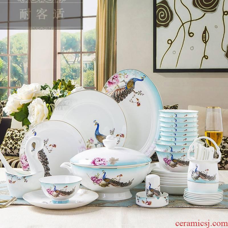 Guest for upscale jingdezhen ceramic tableware suit ipads bowls plates suit dishes home kit customization