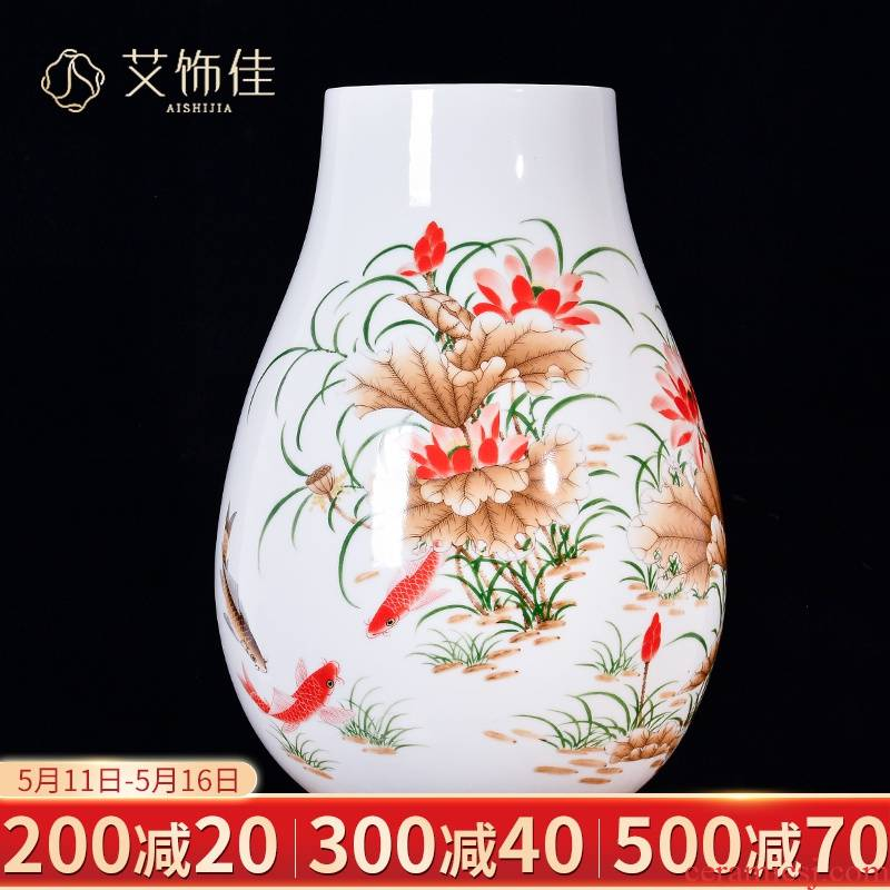 Jingdezhen ceramics and enamel vase flower arranging furnishing articles sitting room porch rich ancient frame decorative arts and crafts