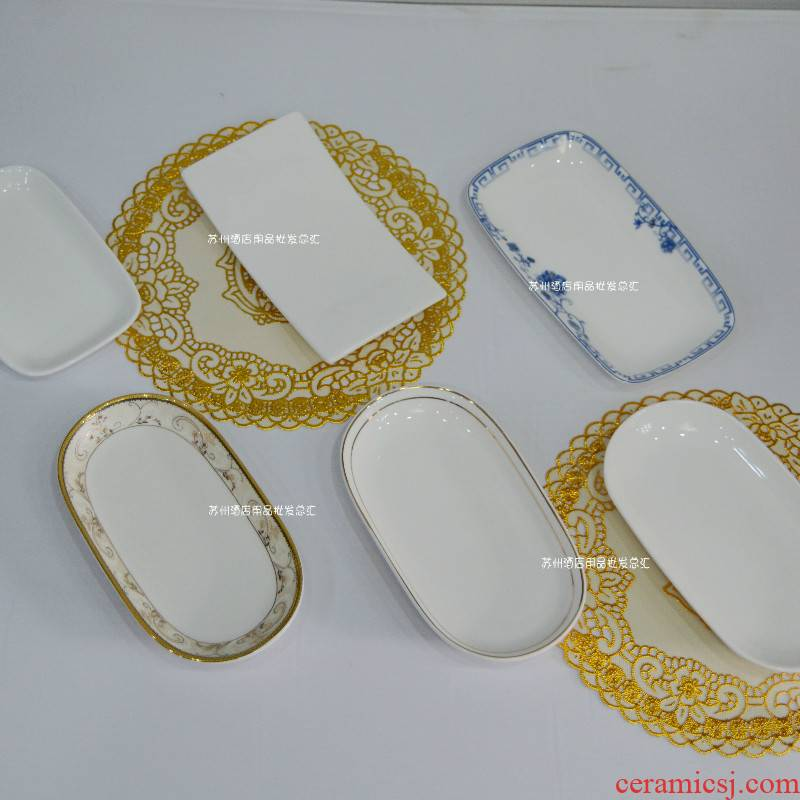 Ceramic towel holder, upscale hotel towel up phnom penh dish and hand towels small square plate tray was dim sum dishes