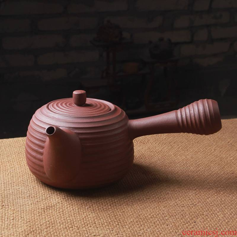 Iron mud Japanese cooking pot coarse pottery hand side curing the boil ceramic kettle kung fu tea, the electric TaoLu ceramic POTS