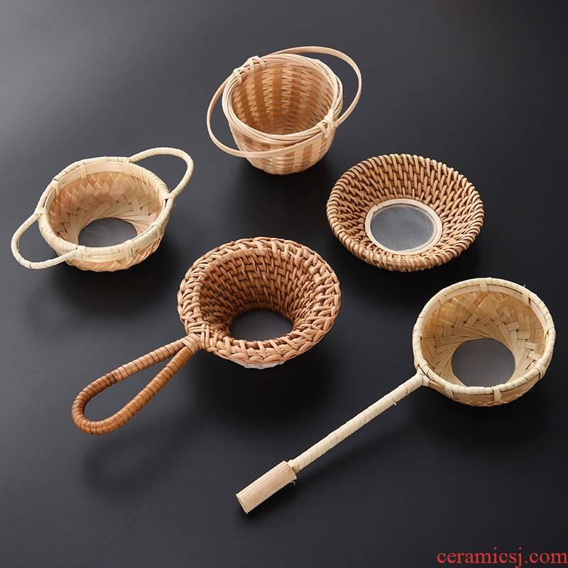 Tao blessing the cane top service up bamboo has) creative move good tea strainer filter tea tea tea accessories