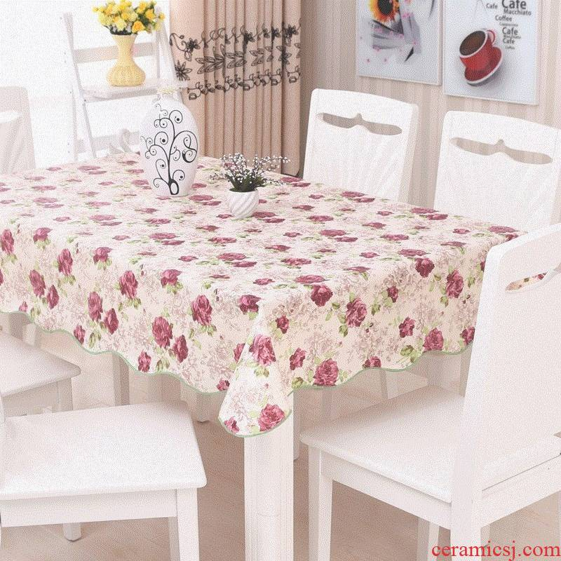 The android platform soft round table cloth waterproof and hot plastic table cloth table MATS PVC is rectangular table cloth small broken flower