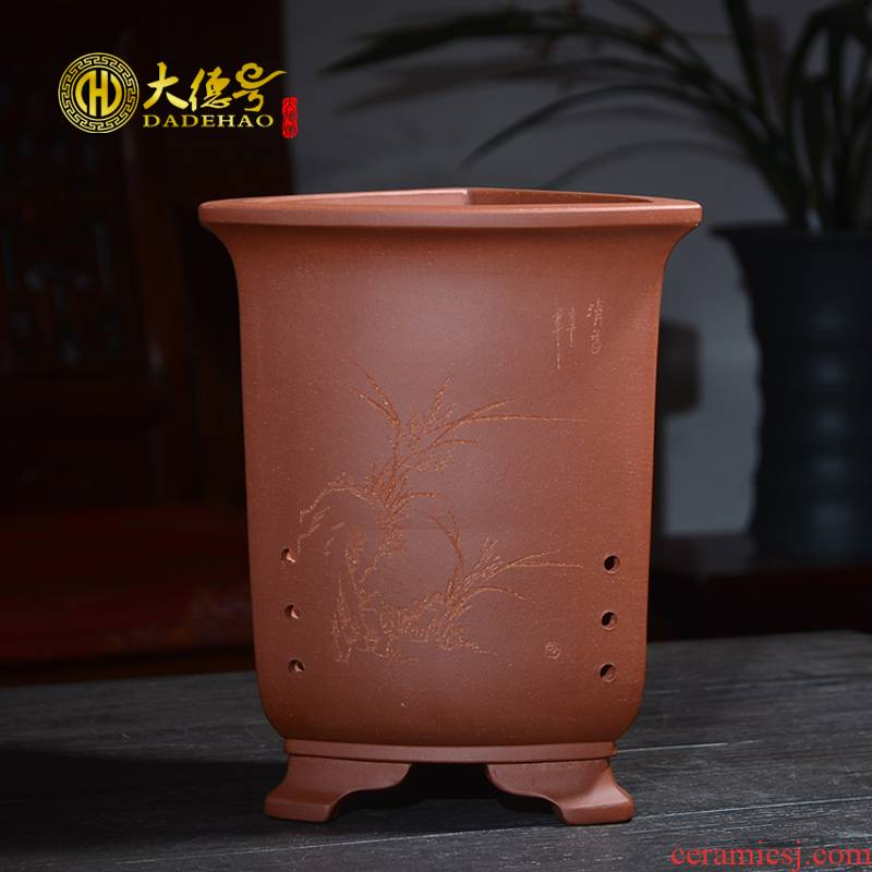 Greatness, yixing ceramic purple very blue grass the plants breathe freely, the four seasons facilities. We chunlan special orchid flower POTS