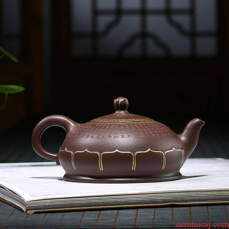 Yixing masters are it pure manual teapot undressed ore kung fu tea cup teapot heart sutra Buddha lotus POTS