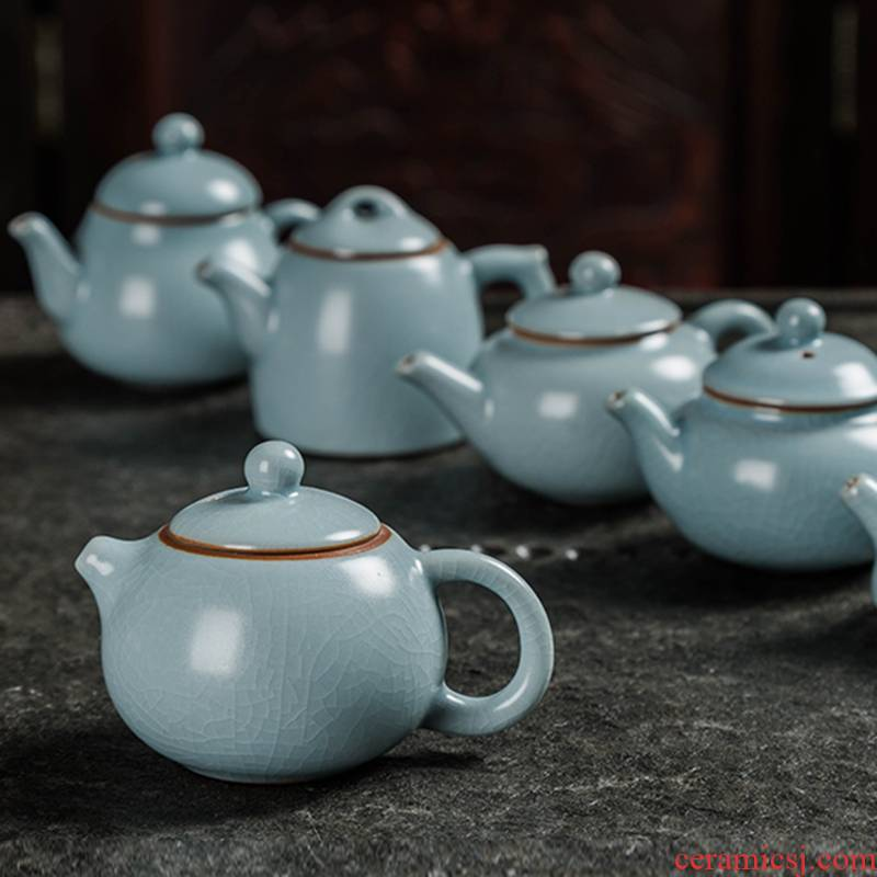 Tea to play the trumpet your up mini pot of fingertip ceramic Tea pot of Tea pet pot furnishing articles (note when buying the size)