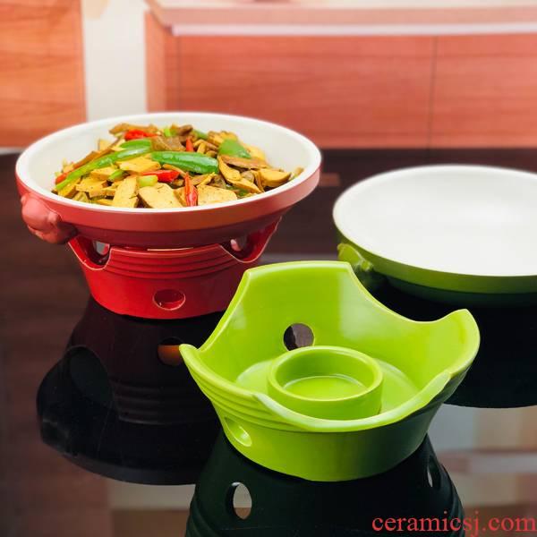 Japanese ceramics small chaffy dish alcohol furnace characteristics of dry sand pot pot stew pot buffet high - temperature hot pot business