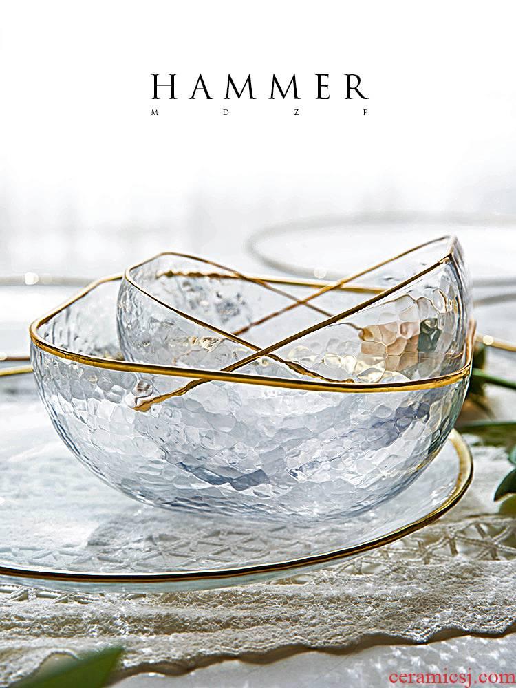 Bo view up phnom penh Nordic ins dessert glass bowl hammer salad bowl bowl of rice, fruit bird 's nest household utensils.