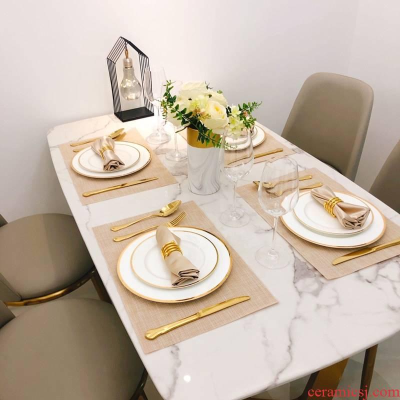 European American household key-2 luxury a full set of western - style food tableware suit between example Nordic ins steak knife and fork dish