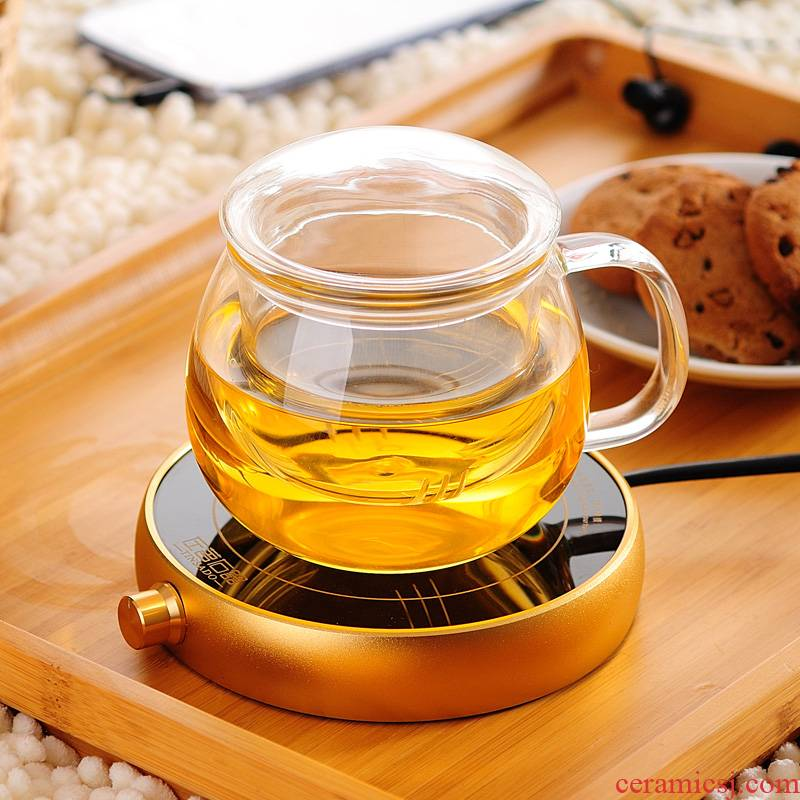 ZuoMing right device with the glass filter water separation constant treasure household with cover of transparent glass tea cup