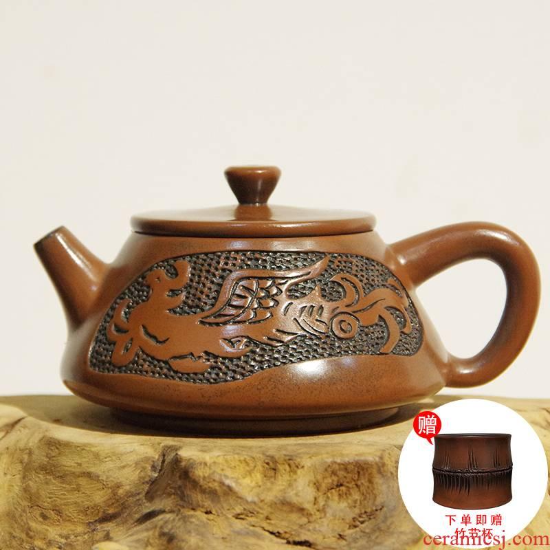 Yunnan jianshui purple TaoWei flaw teapot single pot teapot manual floating retro simple little teapot tea set