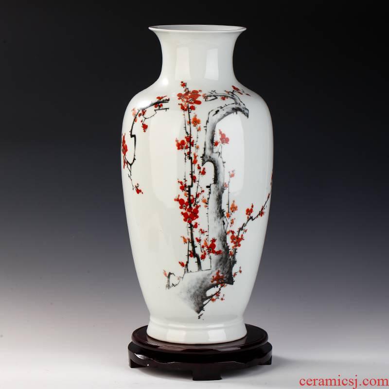 Mesa of jingdezhen ceramics desktop sitting room place porcelain vase flower arranging I household porcelain vase TV ark