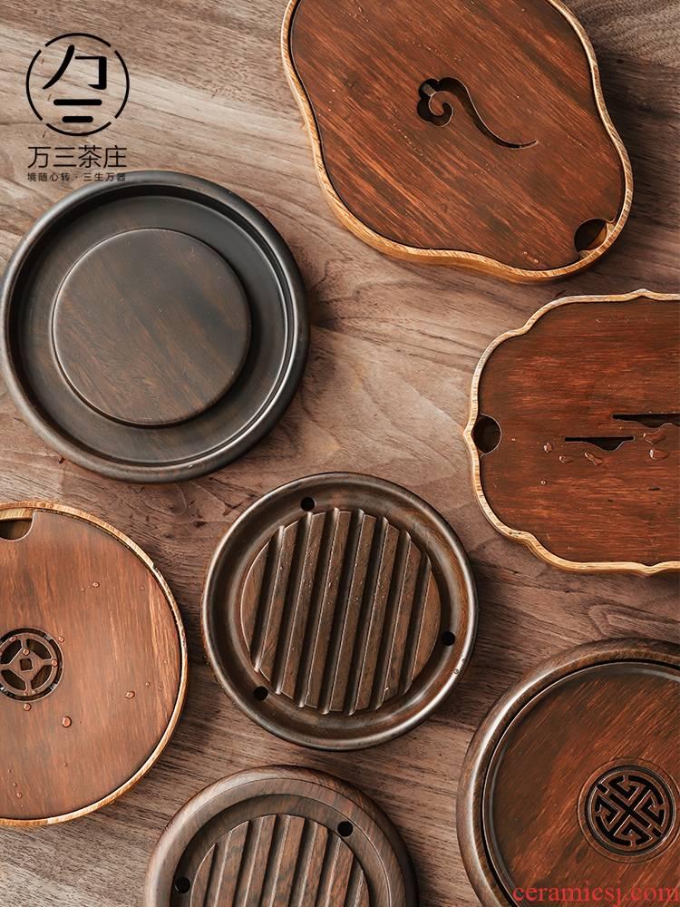 Three thousand Japanese pot bearing ebony dry mercifully tea village small household kung fu tea tea tray storage type parts