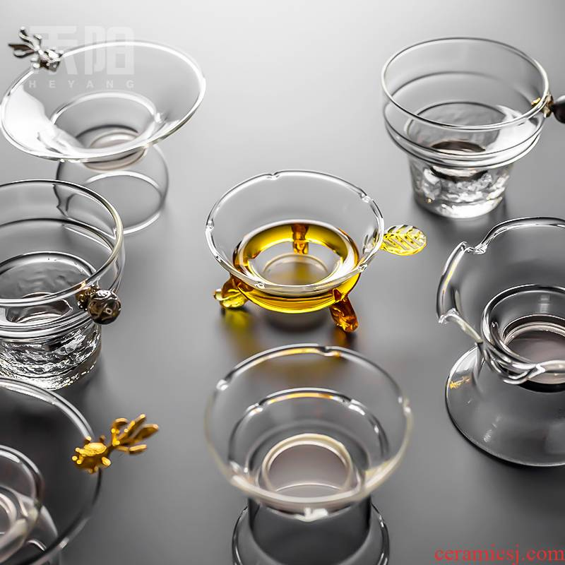 Send Yang glass) filter net is creative tea tea is tea tea accessories tea filter is good