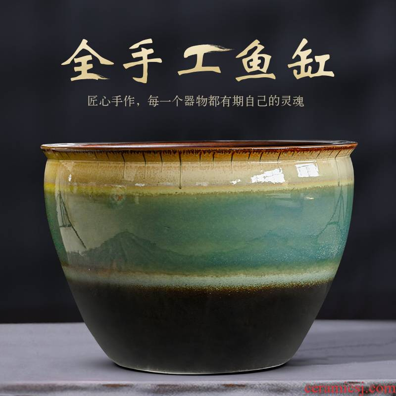 Package mail ceramic aquarium up porcelain jar oversized tank to heavy porcelain jar ceramic bowl lotus lotus cylinder cylinder cylinder tortoise