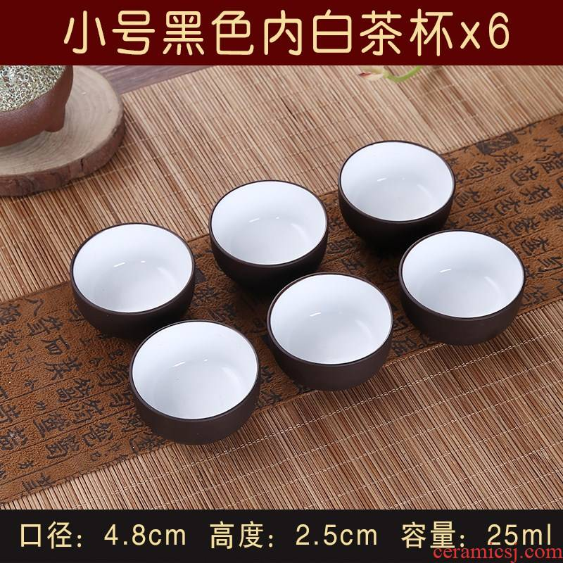 Garden of purple sand cup kung fu tea cups of the next hand six ceramic yixing purple sand cup tea cups