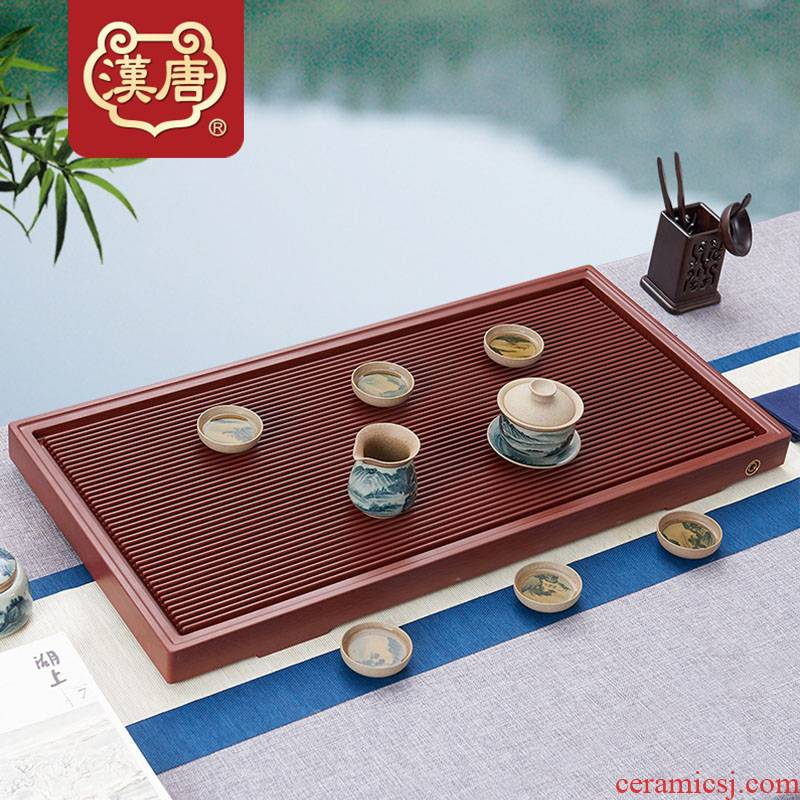 Han and tang dynasties bakelite tea tray with large rectangle electric bakelite swim heart single drainage tea tea table dry terms