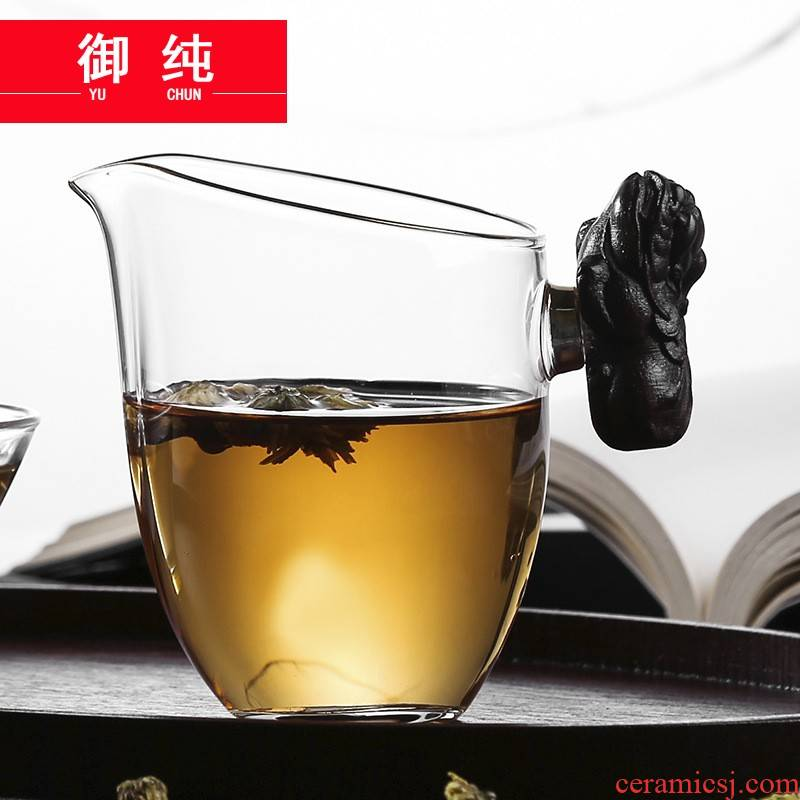 Royal pure manual thickening heat - resistant glass fair keller restoring ancient ways from the sea and a cup of tea is tea accessories the mythical wild animal