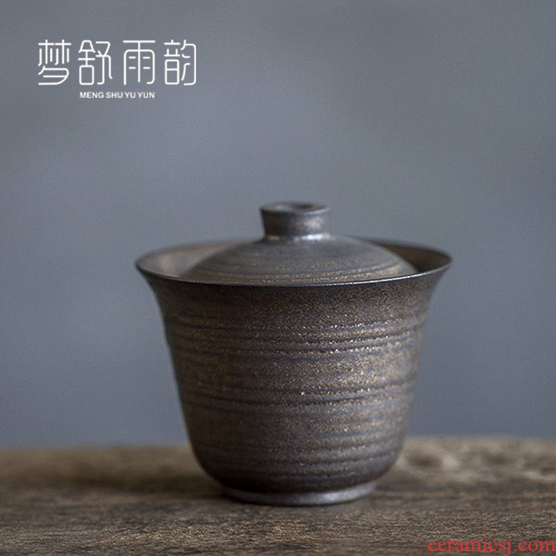 Dream ShuYu rhyme Japanese coarse pottery kung fu tea set hand grasp three only a single small tea tureen large cups restoring ancient ways
