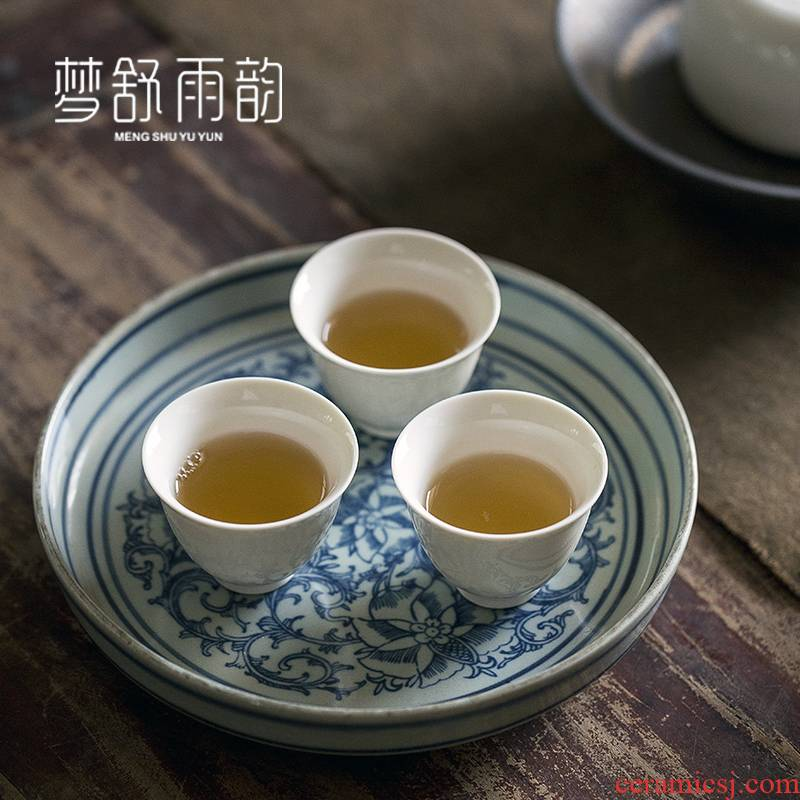 Dream ShuYu rhyme kung fu tea set ceramic tea cup single sample tea cup Japanese restoring ancient ways is a small tea cup only