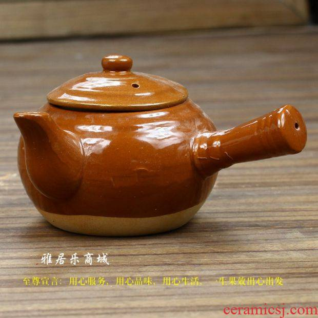 Horizontal sand boil ceramic jade book heat coarse sand kettle pick Diao red mud violet arenaceous kettle Japanese glass teapot tea sets