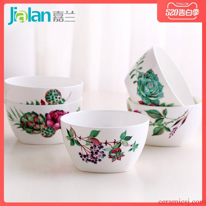 Garland ipads China creative rice bowls 4.5 inches square, square, practical express bowl of Japanese western food porridge soup bowl