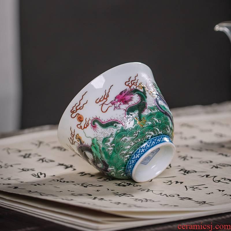The Owl five dragon up jingdezhen tea set all checking ceramic cup kung fu tea masters cup tea cups