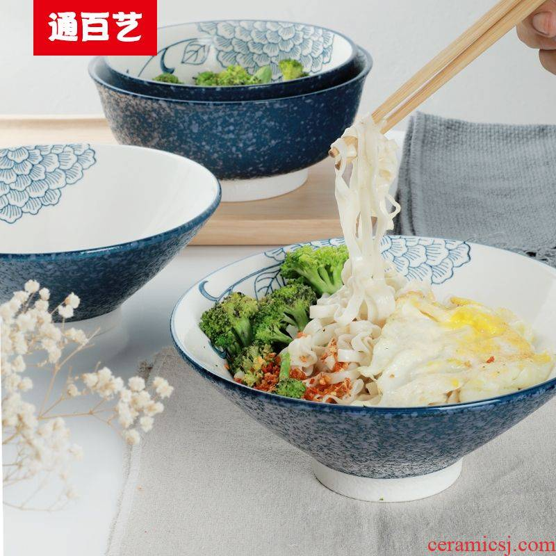 Tong baiyi home mercifully rainbow such as bowl ltd. hotel tableware ceramics horn hat to bowl of Japanese high rainbow such use