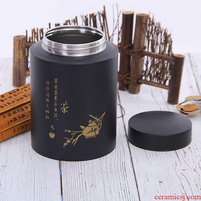 Pro food - grade 304 stainless steel tea pot seal storage POTS of high - grade metal as cans sealing detong storage tank