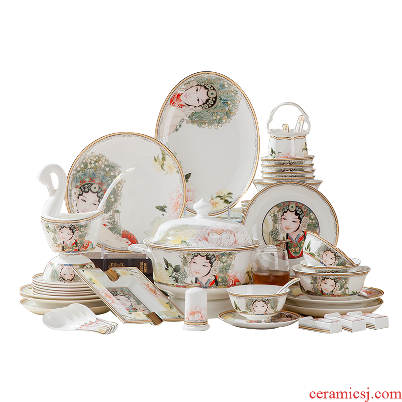 Antarctic treasure European - style suit household ipads porcelain tableware bowl of Chinese dish plate dishes/packages