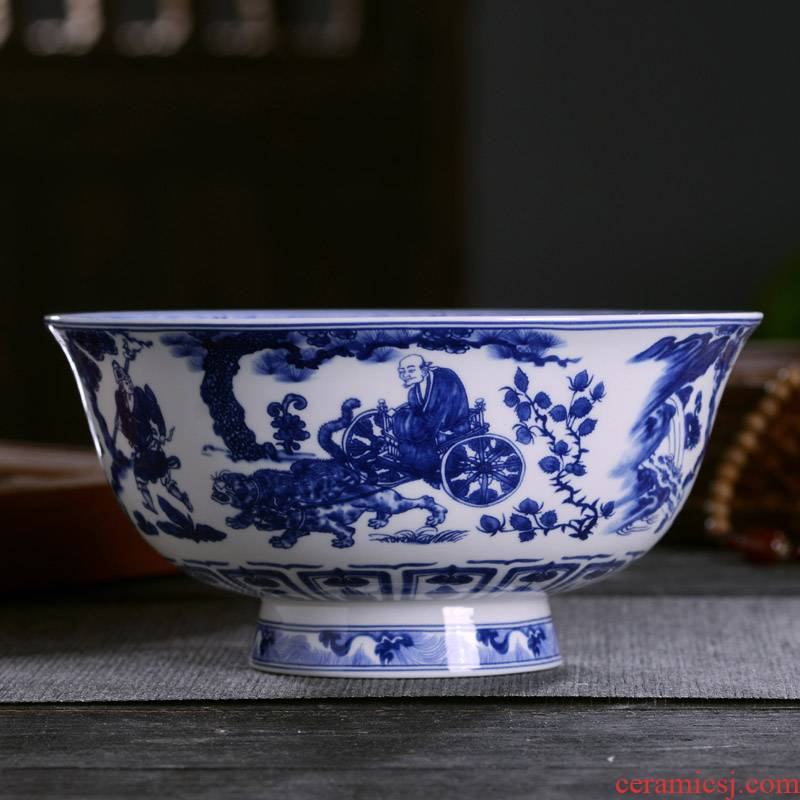 Big rainbow such use Chinese style household ipads porcelain of jingdezhen ceramics rainbow such as bowl noodles in soup bowl of archaize tableware tall foot mercifully small bowl
