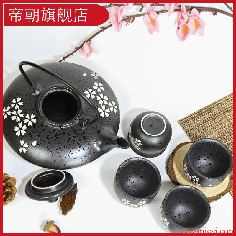 Emperor at the tea set ceramic household travel four unity contracted pot of a complete set of Chinese kung fu tea tea taking
