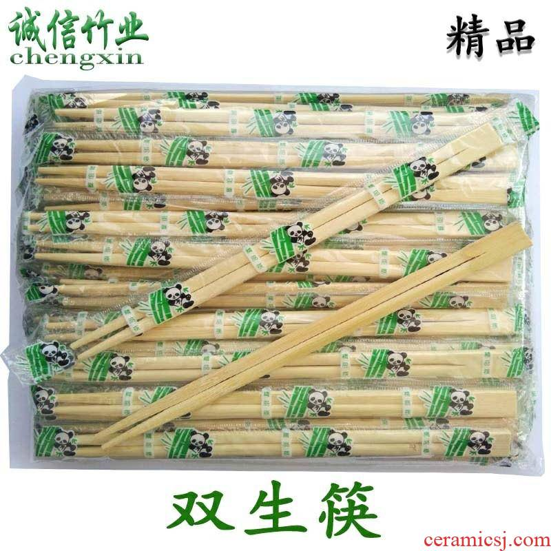 Fast food packaging wedding hotel special being the disposable chopsticks - hot pot restaurant a whole box of high - grade take - away tableware