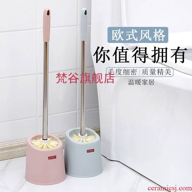 To corner toilet clean toilet the scrub toilets long - handled hanging stainless steel soft brush set with base